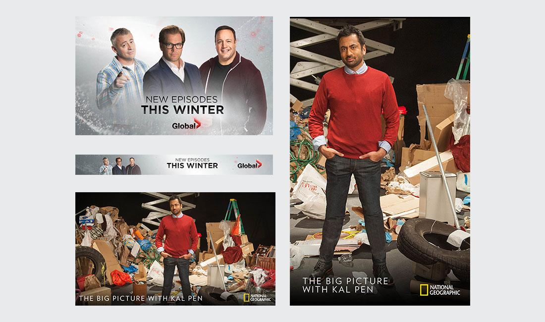 Corus image designs Nat Geo and Global TV
