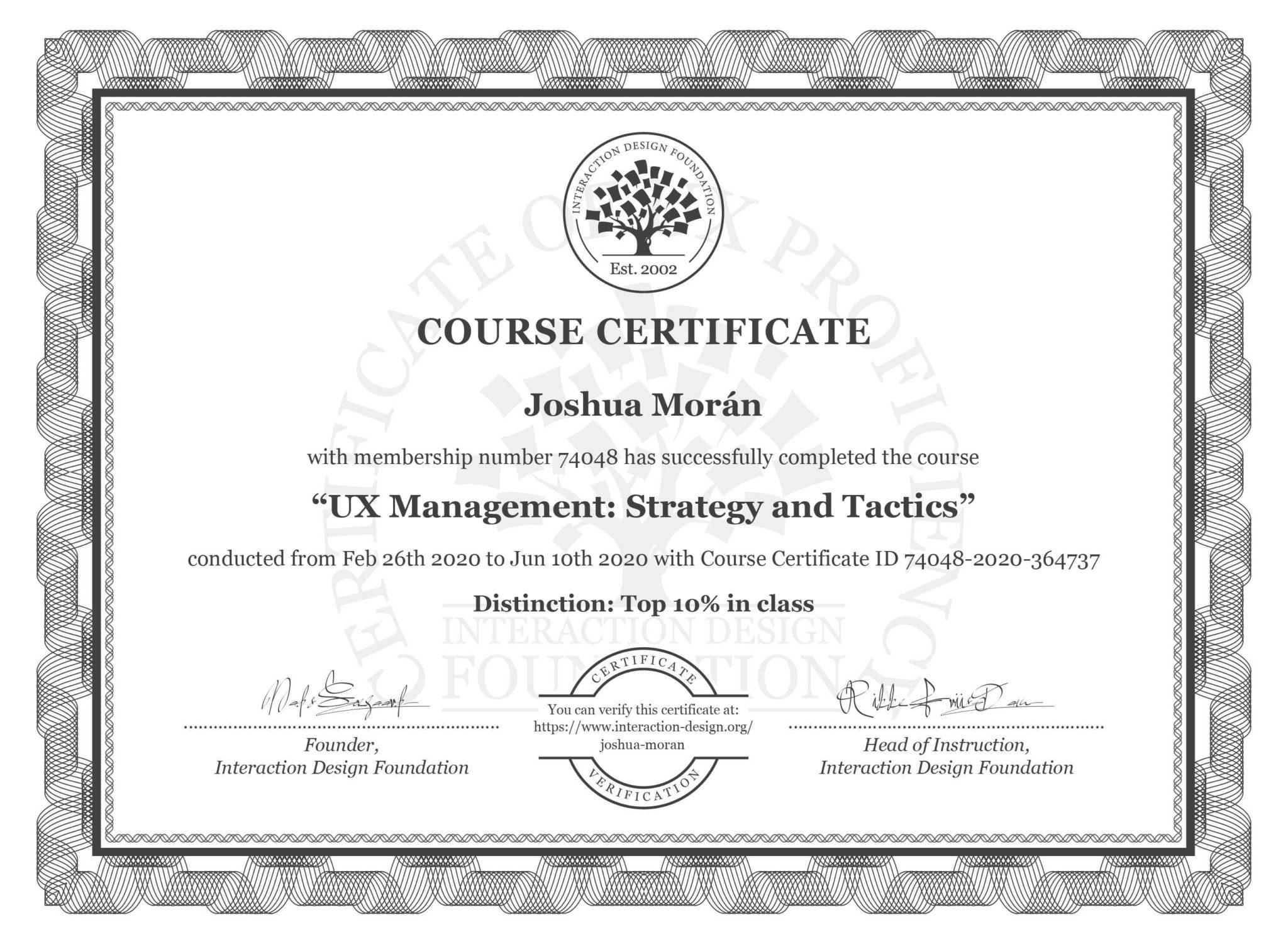 UX design certificate